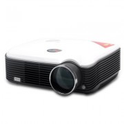 LED Projector - 2500 Lumens, 150 Inch Image, HDMI, TV, USB, For Home Movie Theater, Conference Room, Lecture Theater, Video Game Console or DVD player, Built-in Speaker