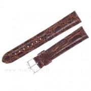 cinturino di ricambio morellato in pelle coccodrillo marrone 18 mm