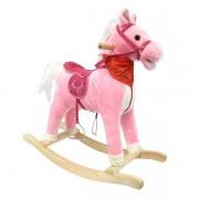Calut Balansoar Copii Rocking Horse Muzical Roz