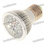 E27 4W 360lm 6500K bombilla fria de la luz blanca 4-LED (85 ~ 265V)