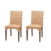 Rotin Design Lote de 2 sillas de ratan de comedor Vitor, baratas y vintage (Sable)