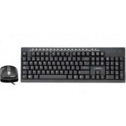 Kit de Teclado y Mouse Acteck AK2-3000, USB+PS/2, Negro
