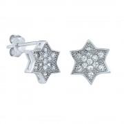 Silvego Stříbrné náušnice hvězdičky s puzetou - SHZE03531