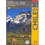Wandelkaart Torres del Paine   Viachile Editores