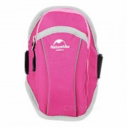 """NatureHike Outdoor Sports Jogging Water-Resistant Nylon Armband Arm Bag for 5.5"""" Phone - deep pink"""