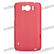 Grille de protection en arrière pc pour HTC Sensation XL / X315E / G21 - Rouge