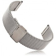 Moto 360 2 Watch Band (2nd Gen 46mm 2015) Threeeggs Stainless Steel Watch Strap Adjustbable Bracelet Band for Motorola Moto 360 2 46mm Smart Watch (A - Milanese Silver)