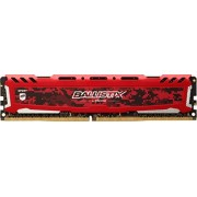 Ballistix Sport LT 8GB Single DDR4 2400 MT/s (PC4-19200) DIMM 288-Pin Memory - BLS8G4D240FSE (Red)