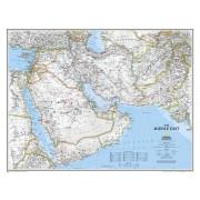 Wandkaart Middle East - Midden Oosten | National Geographic