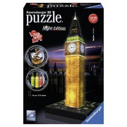 Ravensburger - 12594 - Puzzle 3D - Big Ben Night Illuminé - 216 Pièces