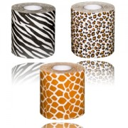 "Carta igienica ""Safari"" fantasia zebra, giraffa e leopardo - set da 3 rotoli"