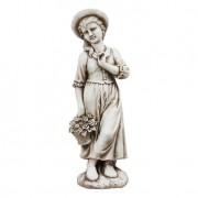 Estátua Menina Com Cesto Greenway 99X28X31