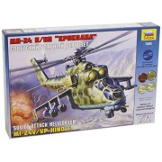 Zvezda 500787293 - Modellino di elicottero da attacco sovietico Mi-24V - Hind C, in scala 1:72