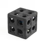 Cub ceramic negru
