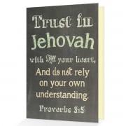 Trust in Jehovah - Proverbs 3:5 - (Chalkboard Scripture Art)