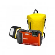Aparat foto compact Nikon Coolpix AW130 16 Mpx zoom optic 5x WiFi subacvatic Diving Kit Orange