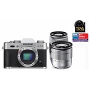 Fujifilm FinePix X-T10 kit (16-50mm + 50-230mm) (argint)
