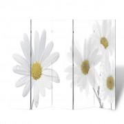 vidaXL Параван за стая с принт 200 х 180 см, мотив цветя