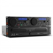 Power Dynamics PDX115 Двоен DJ- CD - плеър контролер с USB, SD, MP3 (Sky-172.713)