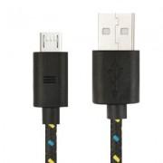 Universele Micro USB Gevlochten Kabel 300 cm - Zwart