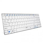 Auawak Rapoo E9070 2.4G Multi-Media 5.6mm Ultra-Slim Wireless Keyboard for Laptops Desktops PC and Mac - White