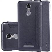 Oker oneplusK35 Nillkin sparkle Flip Cover smart view window case for Redmi Note 3,(Black)