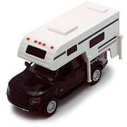 Black 6-inch 2013 Ford F-150 SVT Raptor SuperCrew Camper 1/46 Scale Truck with Pullback Action by Kinsmart