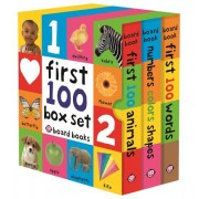 First 100 Boxset (3 Small Board Books Without Padded Cover)