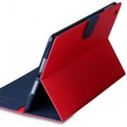 Husa tip carte Mercury Goospery Fancy Diary rosu + bleumarin pentru tableta Samsung Galaxy Tab S 10.5 (SM-T800), Tab S 10.5 LTE (SM-T805)