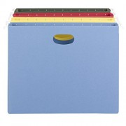 """3"""" Capacity Hanging File Pockets, Letter, Assorted Colors, 4/Pack"""