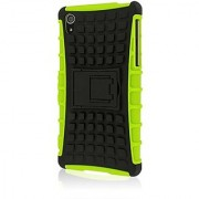 Empire Mpero Impact SR Series Kickstand Case for Sony Xperia Z2 - Retail Packaging - Neon Green