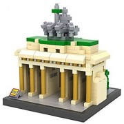 Fu's store(TM) The World Famous Buildings The Brandenburg Gate Berlin Germany Building Architecture Parent-child Games Building Blocks Diamond Blocks Children's Educational Toys