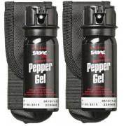 Sabre Flip-Top 53.2mL Pepper Spray GEL with holster (2 x Pack)