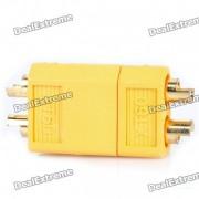XT60 conectores para la bateria R / C Helicoptero - amarillo (par)