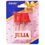 Lumanare pentru tort cu numele JULIA