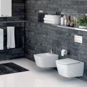 Vas wc suspendat rimless + capac cu inchidere lenta Ideal Standard gama MIA T.D