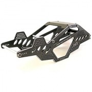 Hot Racing SCP14RR01 Aluminum Rock Racer Conversion Chassis (black)
