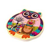 Oops Colourful Wooden 3D Puzzle in Super Cute Owl Design