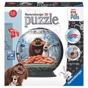 Ravensburger Italy 12192 - The Secret Life Of Pets Puzzle 3D Ball, 72 Pezzi