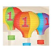 Amscan International 241425 Rainbow 1st Birthday Hot Air Balloon Lantern Decoration