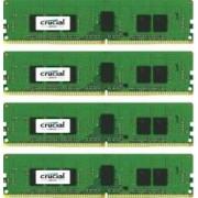 Kit Memorie Server Crucial ECC RDIMM 4x4GB DDR4 2400MHz CL17 Single Rank x8 Quad Channel