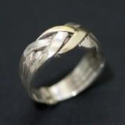 Anel Turco de Prata 925 com Ouro Amarelo 18k