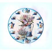 Ceas de perete - lavanda si flori de camp 1536