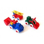 """Viking Toys Chubbies 5"""" Fire Truck, Tractor and Excavator -1060 by Viking"""