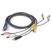 IOGEAR Micro-Lite Bonded All-in-One USB KVM Cable 6 Feet G2L5302U