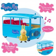 Peppa Pig School Bus Playset With Sound (Parlant Anglais)