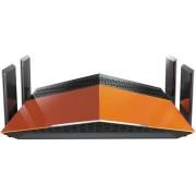 Router Wireless D-Link DIR-879, Gigabit, Dual Band, 1900 Mbps, 4 Antene Externe (Portocaliu/Negru)