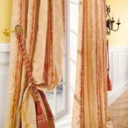 """Vorhang """"Le Roi"""", 1 Vorhang, 132 x 280 cm - Creme/Orange/Rot"""