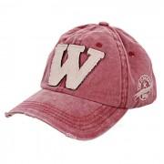 Sombrero unisex de moda del vintage de la gorra de beisbol - vino rojo + blanco