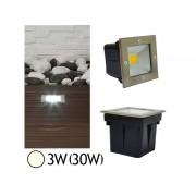Vision-EL Spot encastré sol LED COB 3W(30W) IP67 Blanc neutre 4500°K